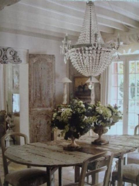 36 meravigliose sale da pranzo shabby chic foto - Shabby chic interiors a casa di federica ...