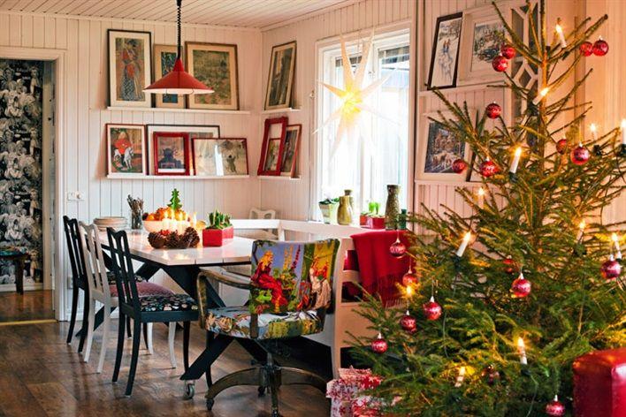 Gli interni delle case scandinave arredate per natale for Foto case interni