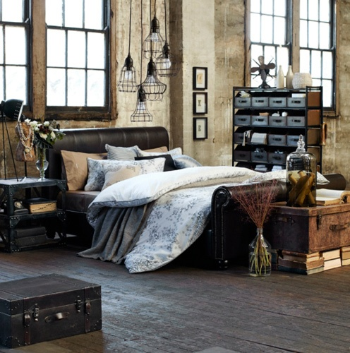 Quando lo shabby chic sposa lo stile industriale foto for Bedroom ideas industrial