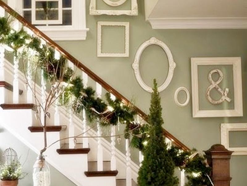 Come decorare le scale per Natale 20 idee shabby