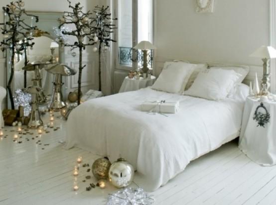25 idee per decorare le vostre camere da letto a natale for Camera da letto chic