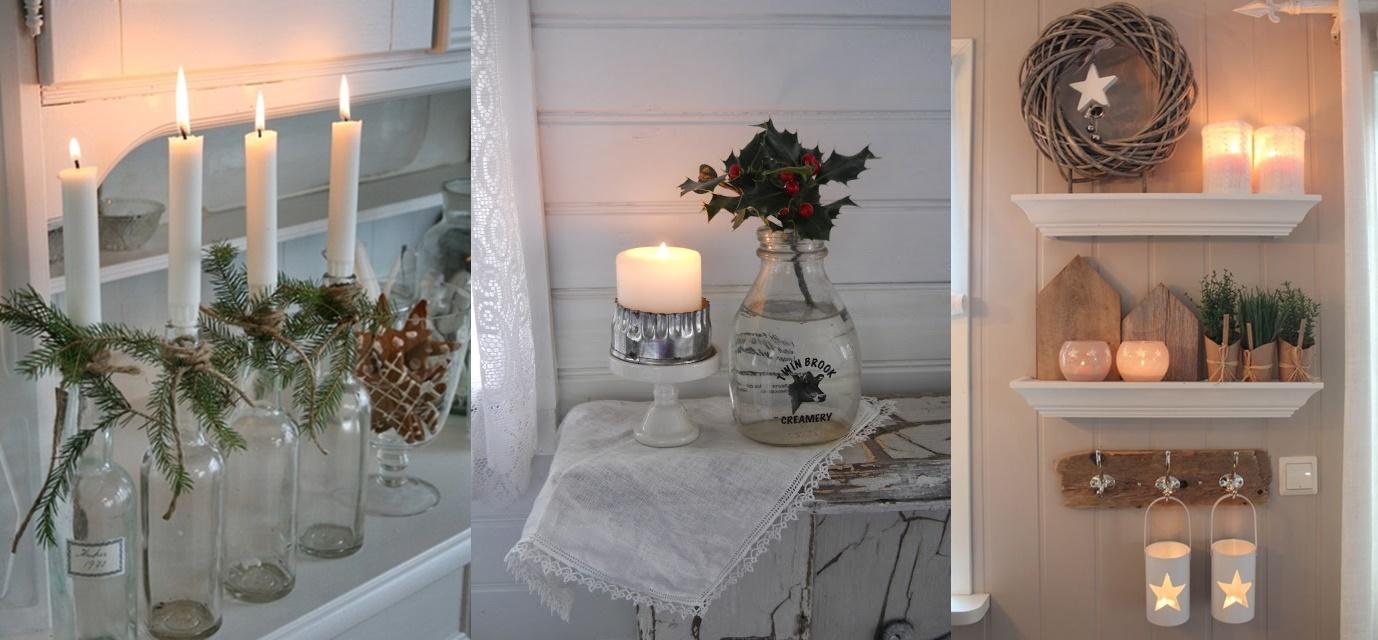 Mensole decorate per un Natale shabby chic FOTO