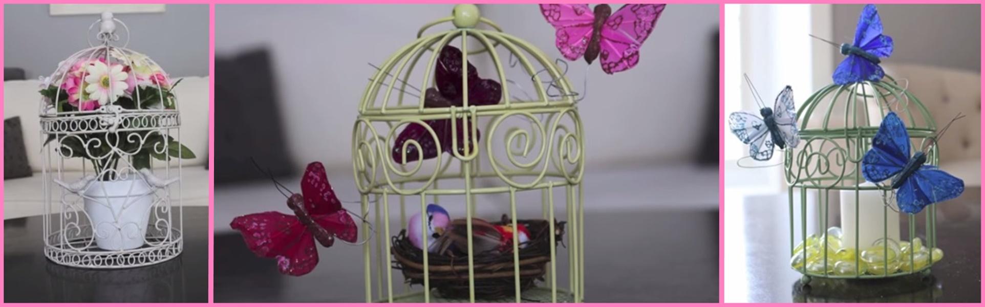 Come decorare gabbiette per uccelli in stile shabby VIDEO