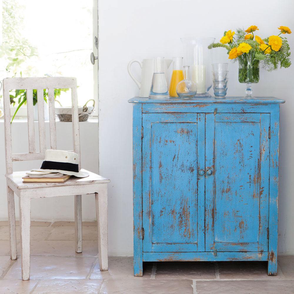 cucina maison du monde credenza bassa in azzurro