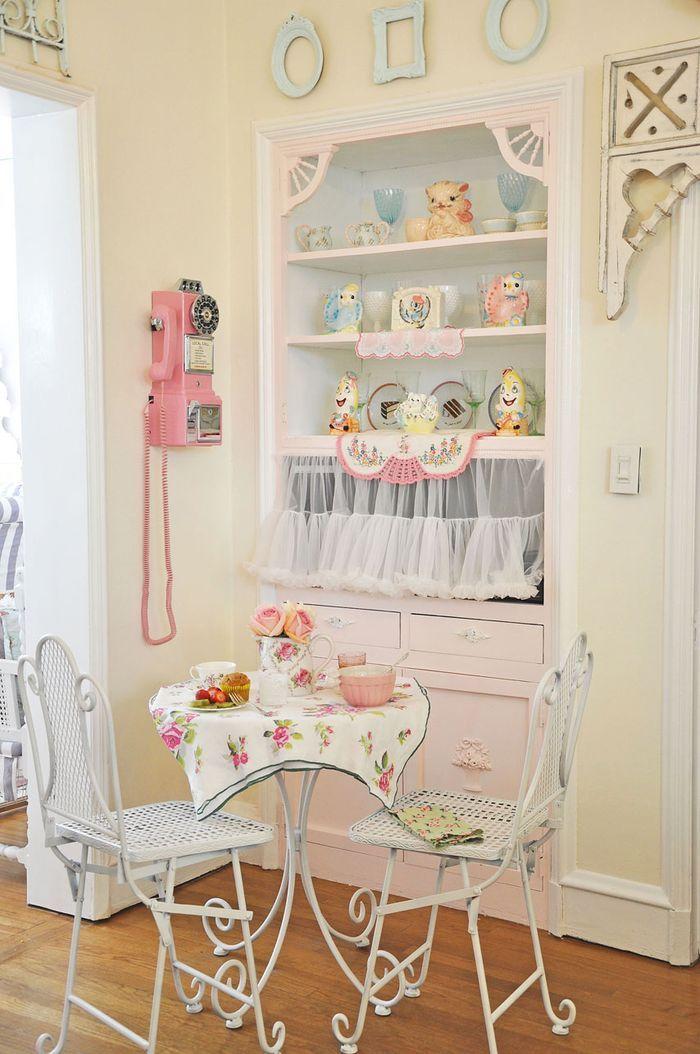 Cucine pastello e accessori per decorarla lo shabby sposa il vintage FOTO