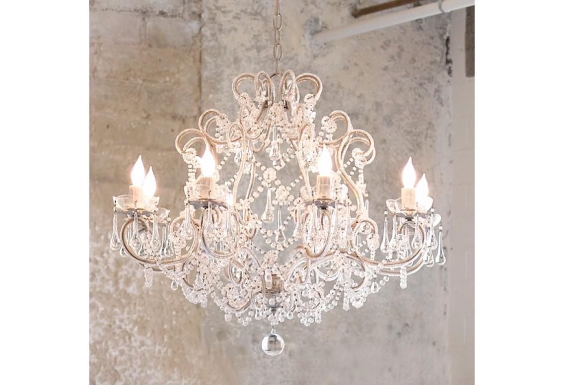 Lampadari Shabby Chic: 25 Idee Per Illuminare La Tua Casa Con Eleganza #4D3C2F 1136 776 Mobile Sala Da Pranzo Ikea
