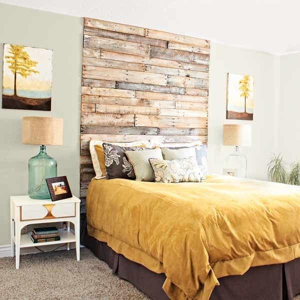 Come decorare le pareti di casa in stile shabby chic idee e foto - Testiera letto adesiva ...
