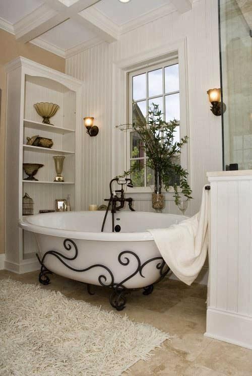 Foto e idee vasca da bagno shabby chic - Shabby chic interiors bagno ...