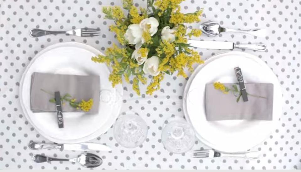 Come decorare la tavola in stile shabby video di Blanc Maricl