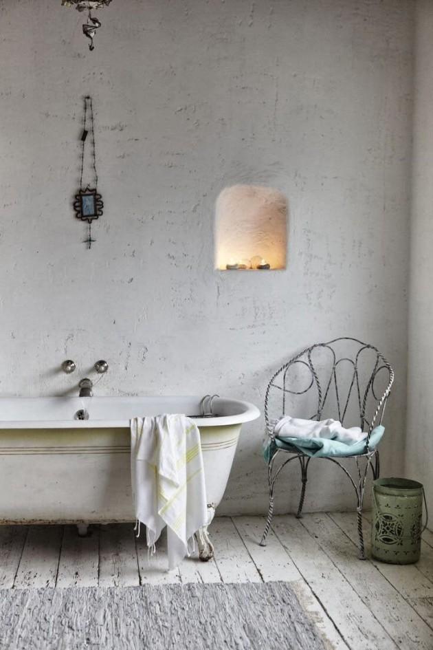Tutti i segreti per realizzare un bagno shabby chic - Piastrelle per bagno rustico ...