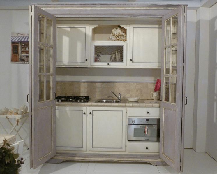Mini cucine a scomparsa in stile provenzale le info sull 39 azienda - Cucine con vetrate ...