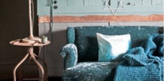 Abbinamento color ottanio: lampada