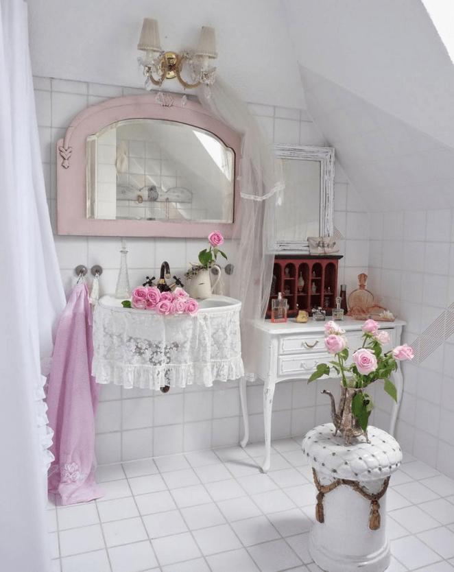 Guarda le immagini dei bagni da sogno in stile shabby - Bagno shabby immagini ...
