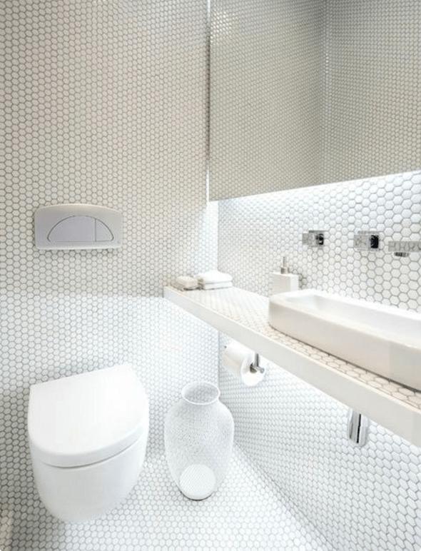 Il bagno moderno con il mosaico potrebbe essere unottima soluzione