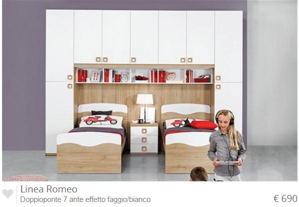 La nuovissima collezione delle camerette mondo convenienza for Cameretta a ponte usata