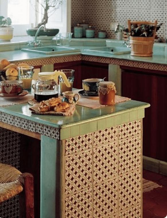 Cucina In Muratura Ceramica Vietrese   Piastrelle In ...
