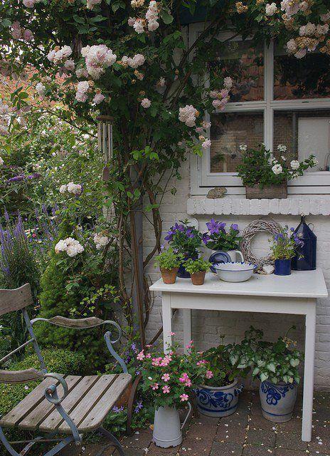Un giardino da sogno in stile shabby chic