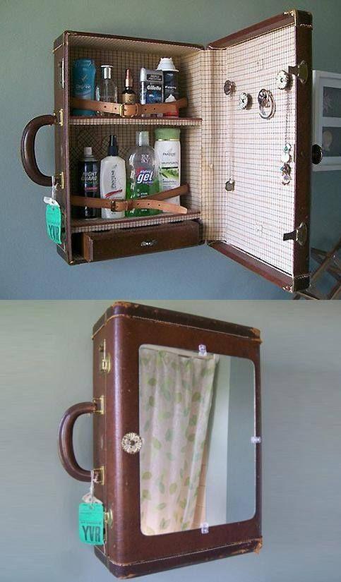 Come riciclare vecchie valigie in stile shabby FOTO