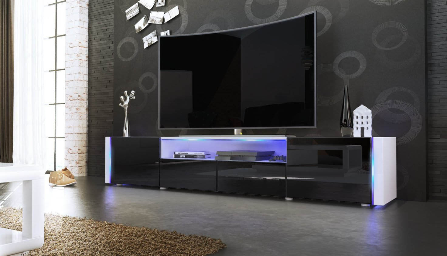 Mobile Tv Moderno Led : Soggiorno tv moderno mobile tv sospeso idee di design decorativo