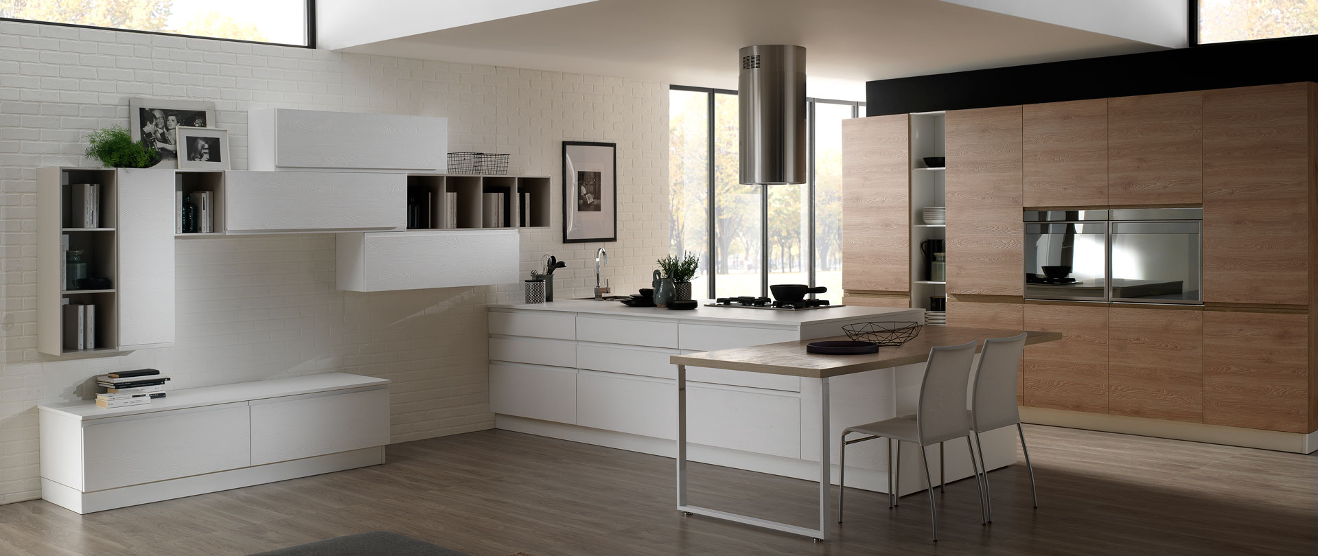 Beautiful Cucine Moderne Color Tortora Contemporary - Home ...