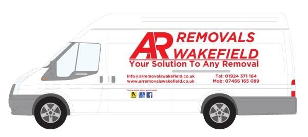 White Transit AR Removals Fleet Van Extra Long Wheel Base Jumbo Panel Van