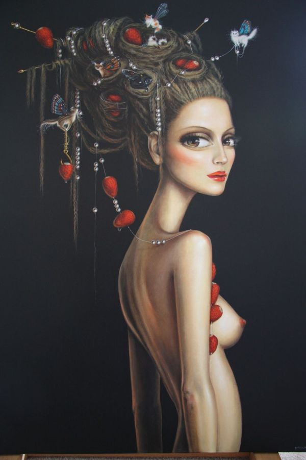 Beautiful Woman Painting Fine Art