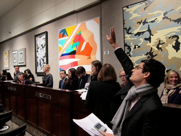 Christies Banksy Auction 22 Arrested Motion