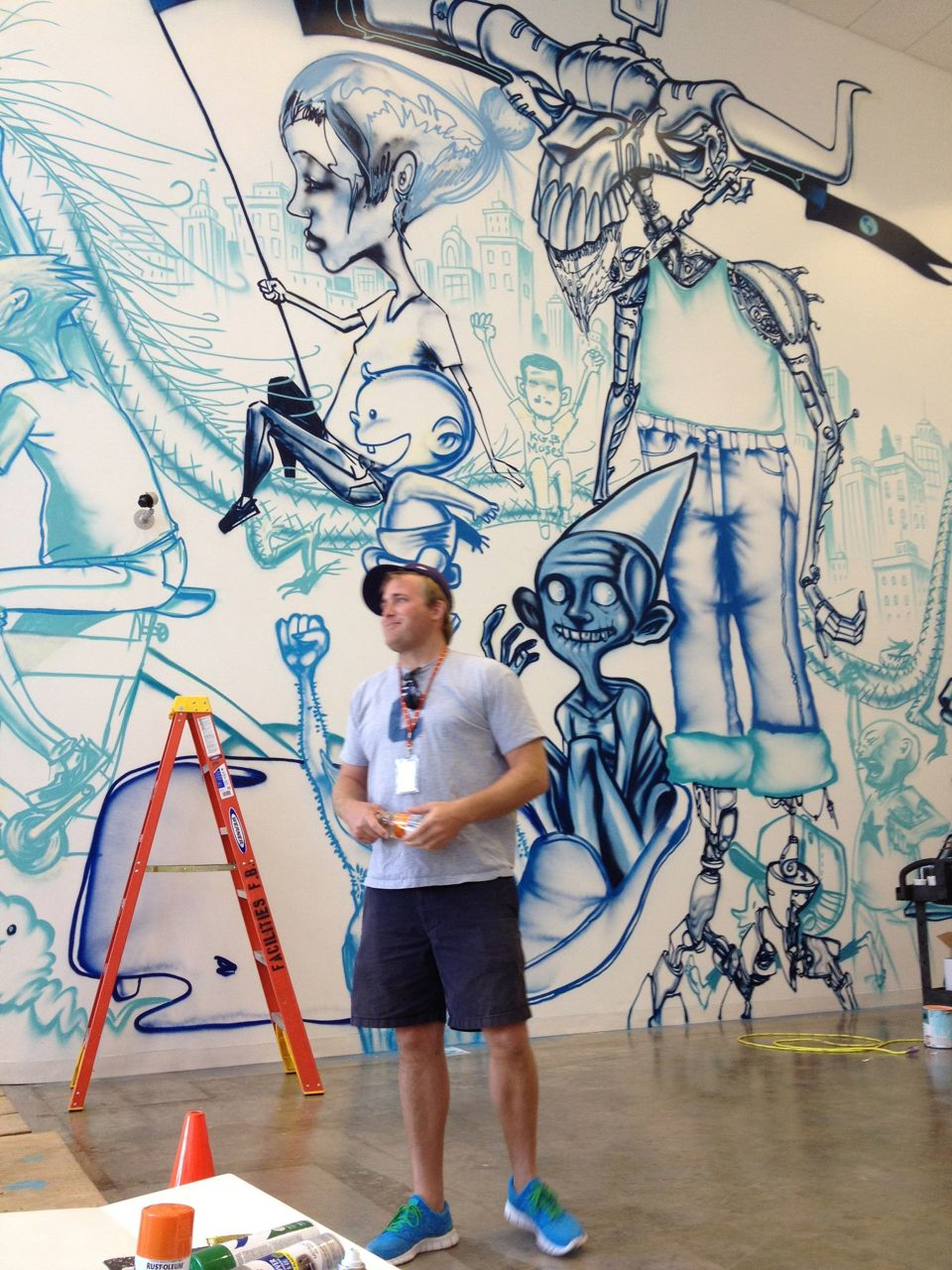 David Choe Paints New Facebook Offices  Arrested Motion