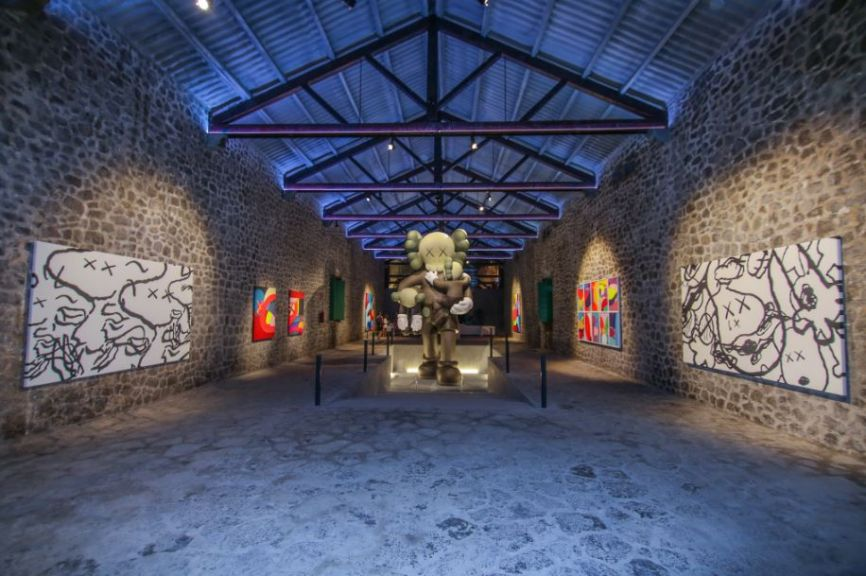 Showing KAWS  Clean Slate  LA NAVE Ibiza  Arrested