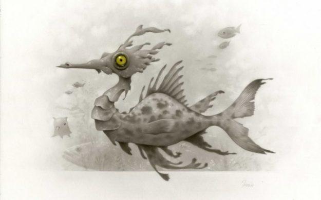 """seaDragon150-1-698x435 Previews: Travis Louie – """"Curious Organisms"""" @ KP Projects Random"""