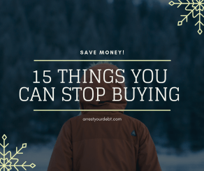 15 things you can stop buying now to save up money!