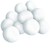pile of snowballs