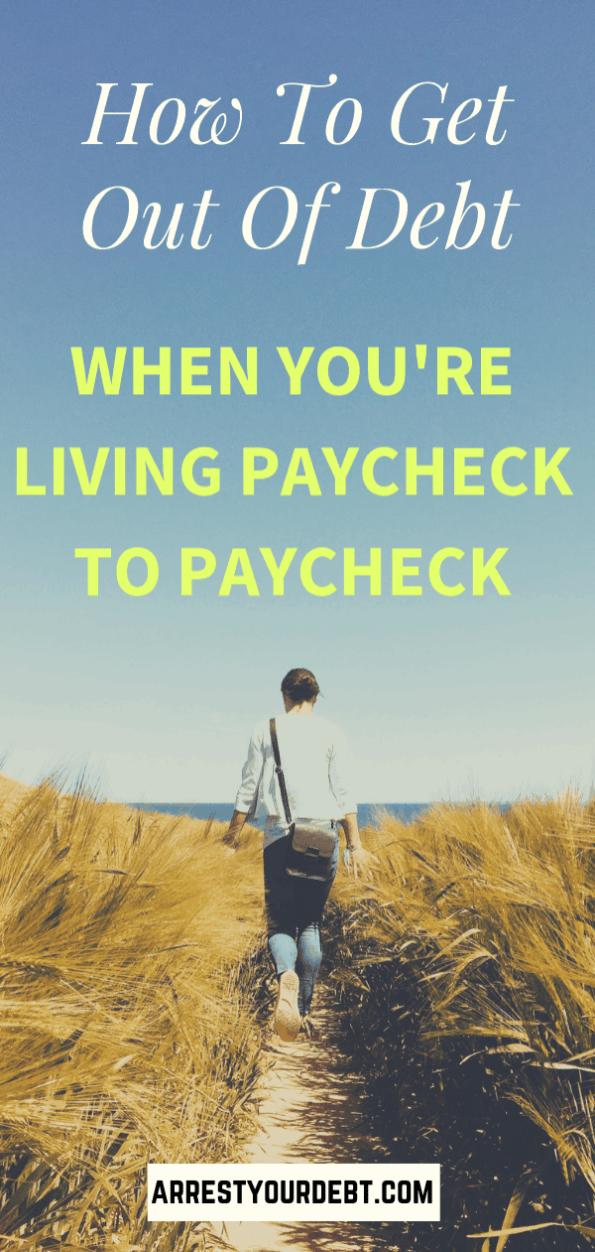 walking through a field in debt