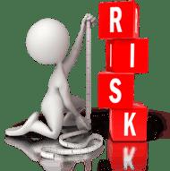 man calculating risk