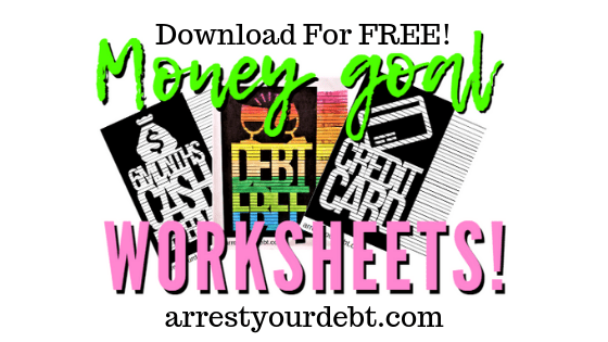 money goal coloring worksheets