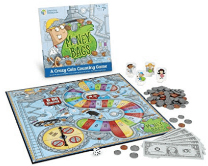 Money Bags Coin Value Game, Money Recognition, Counting Game, Ages 7+