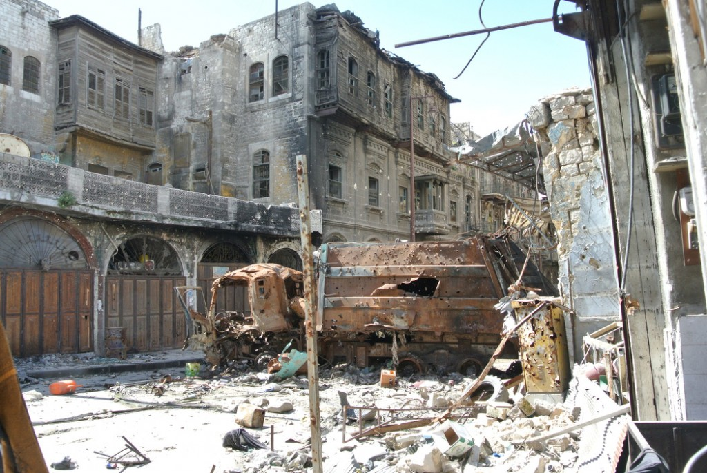 Atmosphere on the 'frontline' after 2 years of Syrian Revolution - Aleppo
