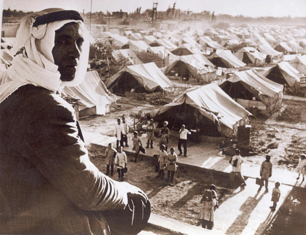 damascus-1948-Nakba 1948 Palestine - Camp de réfugiés de Jaramana, Damas, Syrie (Wikipedia Commons)