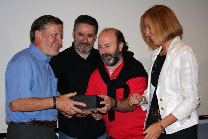 Xuan Xosé Sánchez Vicente, Humberto Gonzali, Jesús Castañon y Pilar F. Pardo