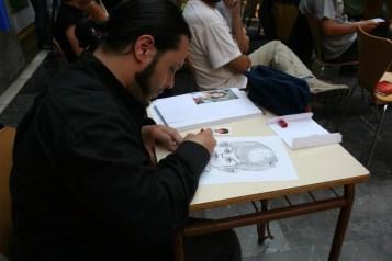ARRIBADA 2009. Día 23 de setiembre. Caricatures d'Alberto Martínez