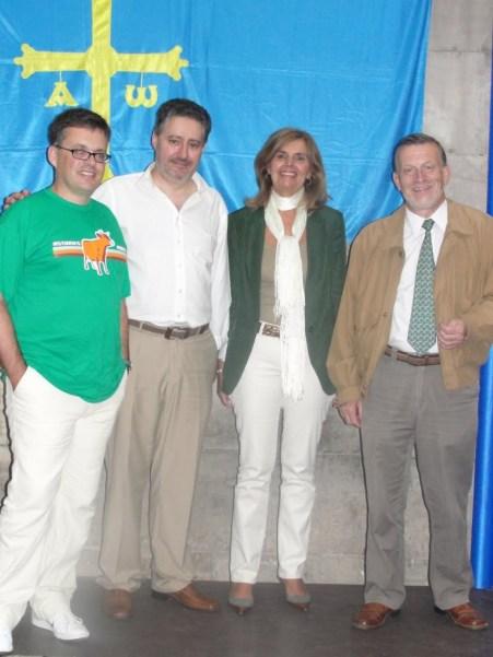 José Luis Campal, Humberto Gonzali, la senadora Dorinda García y Xuan Xosé Sánchez Vicente