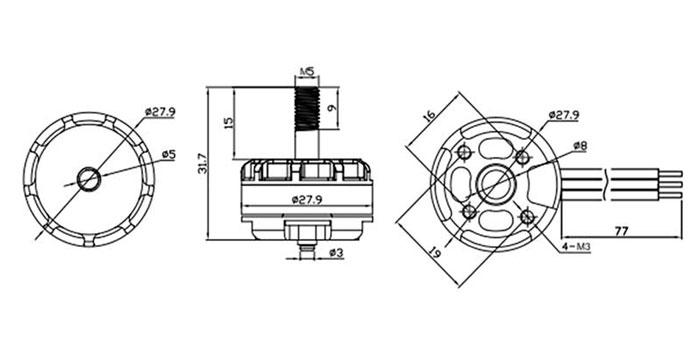 EMAX Cooling RS2205 RaceSpec KV2300 Brushless Motor