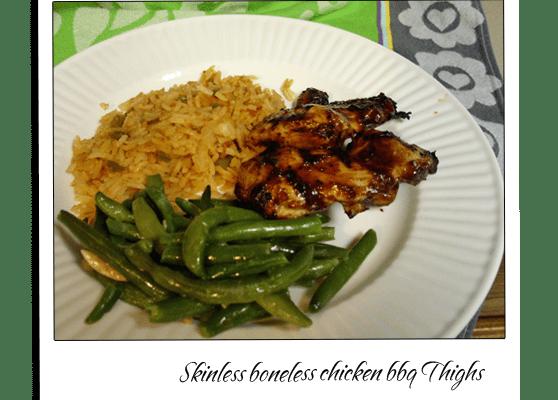Chicken Boneless Skinless BBQ Thighs