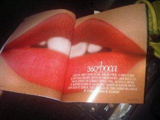 Labios rojos en revista Estetica y Salud