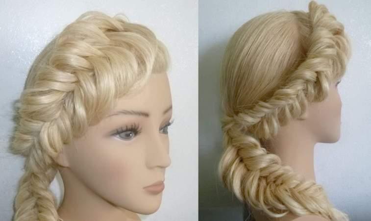 укладка длинных волос на каждый день - «РЫБИЙ ХВОСТ»