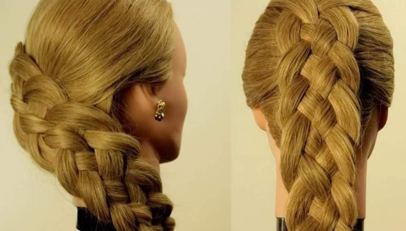 прически на каждый день длинные волосы - ФРАНЦУЗСКАЯ КОСА СРЕДНЕГО ОБЪЕМА