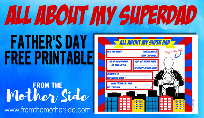 Father's Day Printable for Super Dad