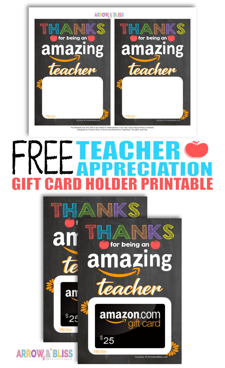 photo regarding Amazon Gift Card Printable identify Cost-free Trainer Appreciation Printable