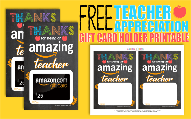 It is a graphic of Teacher Appreciation Printable Card inside greeting