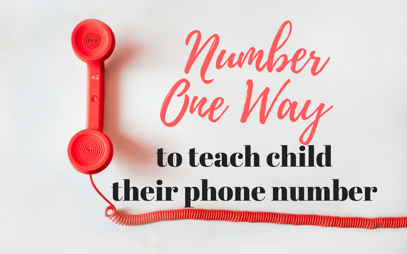 The Number One Way to Get Your Child to Learn Their Phone Number